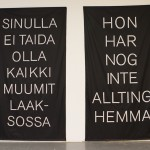 Finnish and Swedish banners