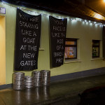 Banners outside Cagney's Bar